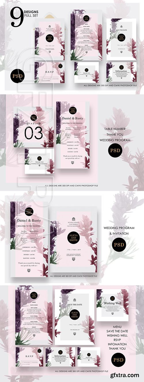 CreativeMarket - Modern Verra Wedding Collection Ac5 2660003