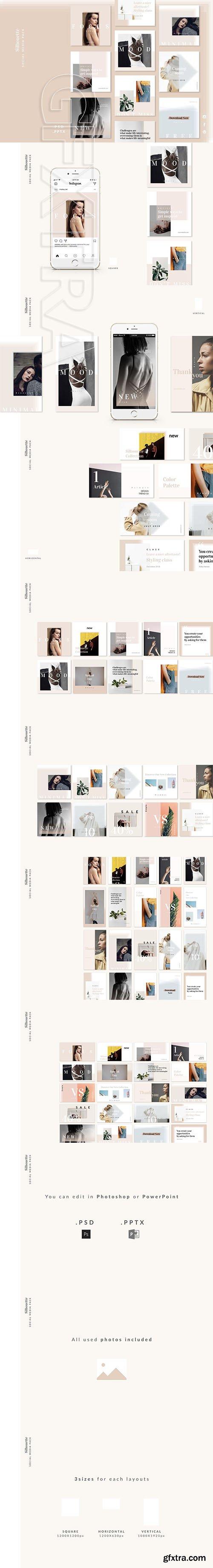 CreativeMarket - Silhouette Social Media Pack 2657319