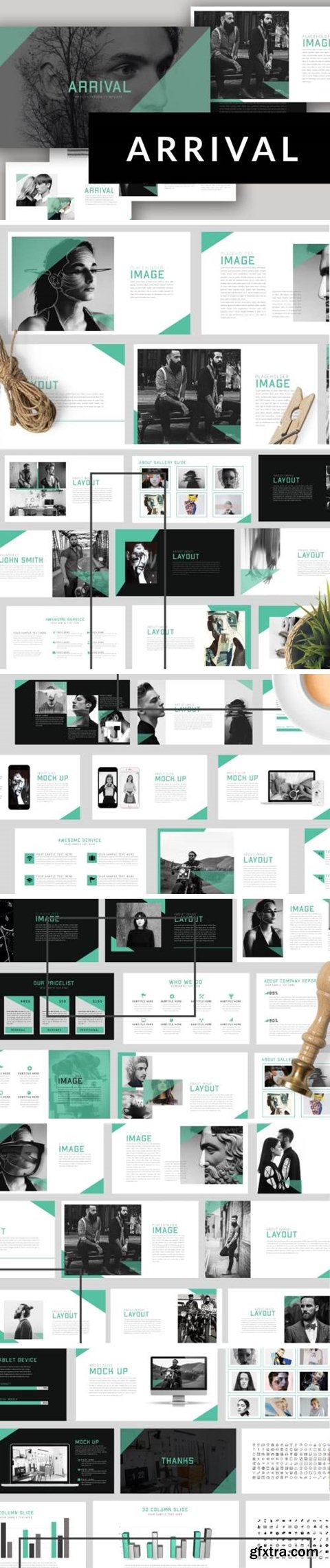 Arrival powerpoint & Keynote Template