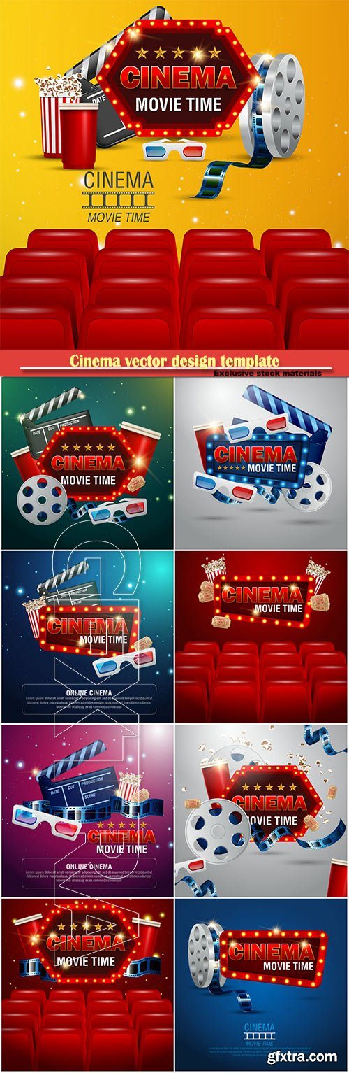 Cinema vector design template