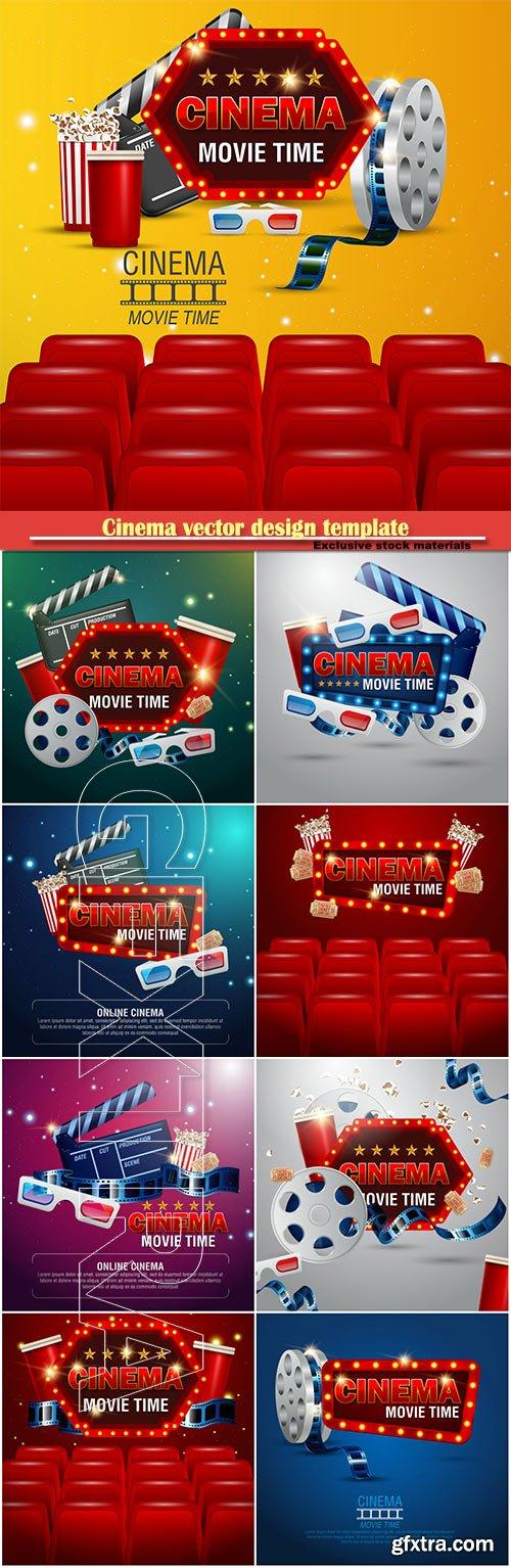 Cinema vector design template