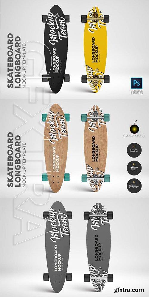 CreativeMarket - Skateboard - Longboard Mockup Temp 2636816