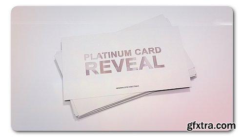 Videohive Platinum Card Reveal 19324804