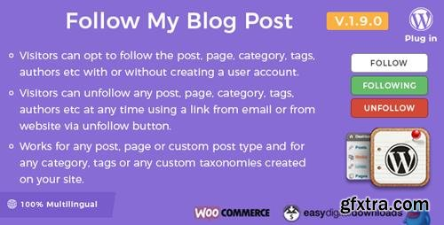 CodeCanyon - Follow My Blog Post v1.9.0 - WordPress Plugin - 6107586