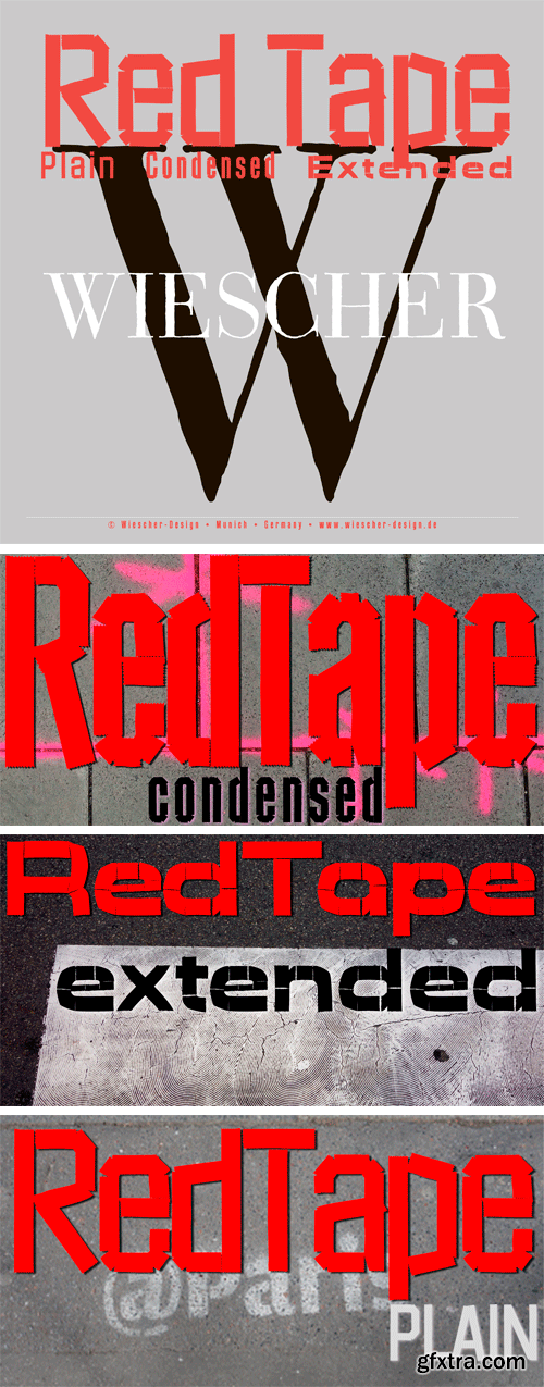 Red Tape Font Family