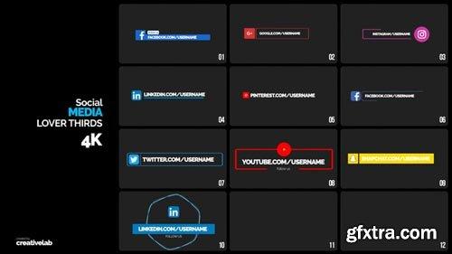 Videohive - Social Media Lower Thirds - 21883024