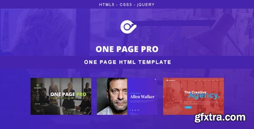 ThemeForest - One Page Pro v1.0 - Multi Purpose OnePage HTML Template - 22121275