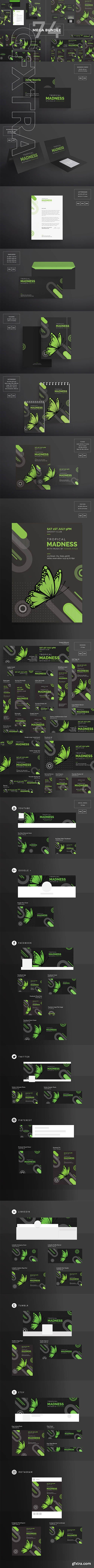 CreativeMarket - Mega Bundle Tropical Madness 1895603