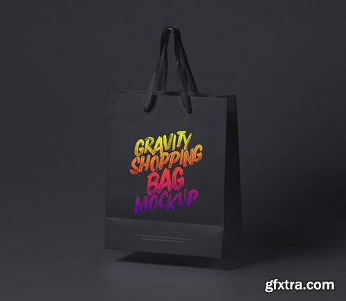 Psd Gravity Shopping Bag Mockup 2