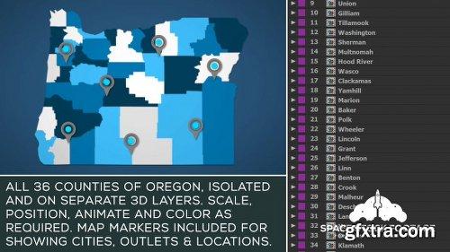 Videohive Oregon Map Kit 20856707