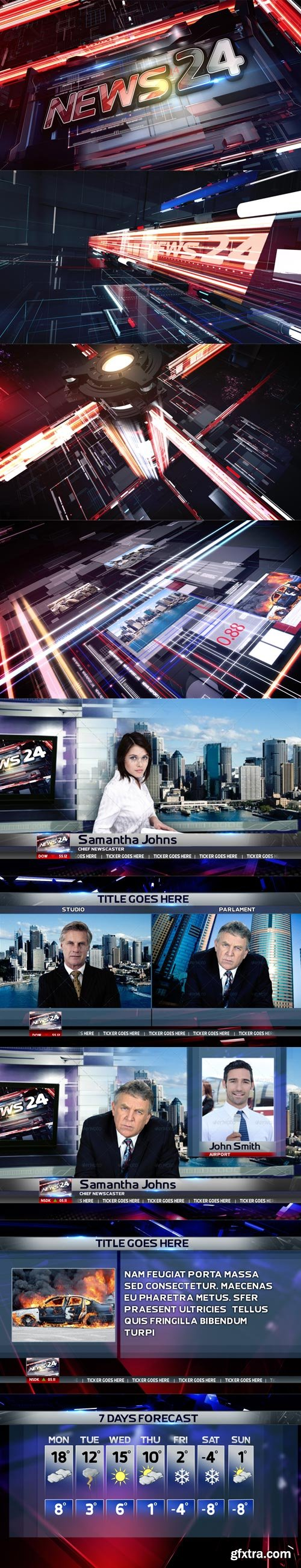 Videohive - News 24 Broadcast Pack - 9943953