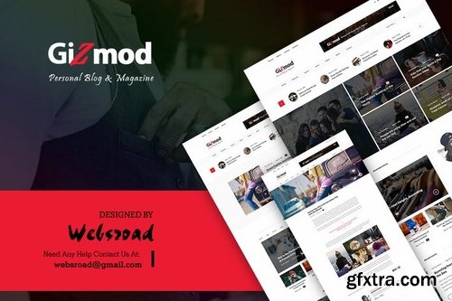 Gizmod - News, Magazine, Blog PSD Templates