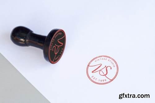 Rubber Stamp Mock Up