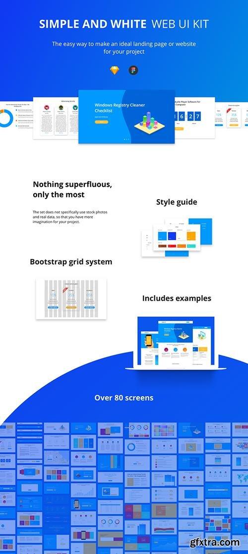 Simple & White UI Kit