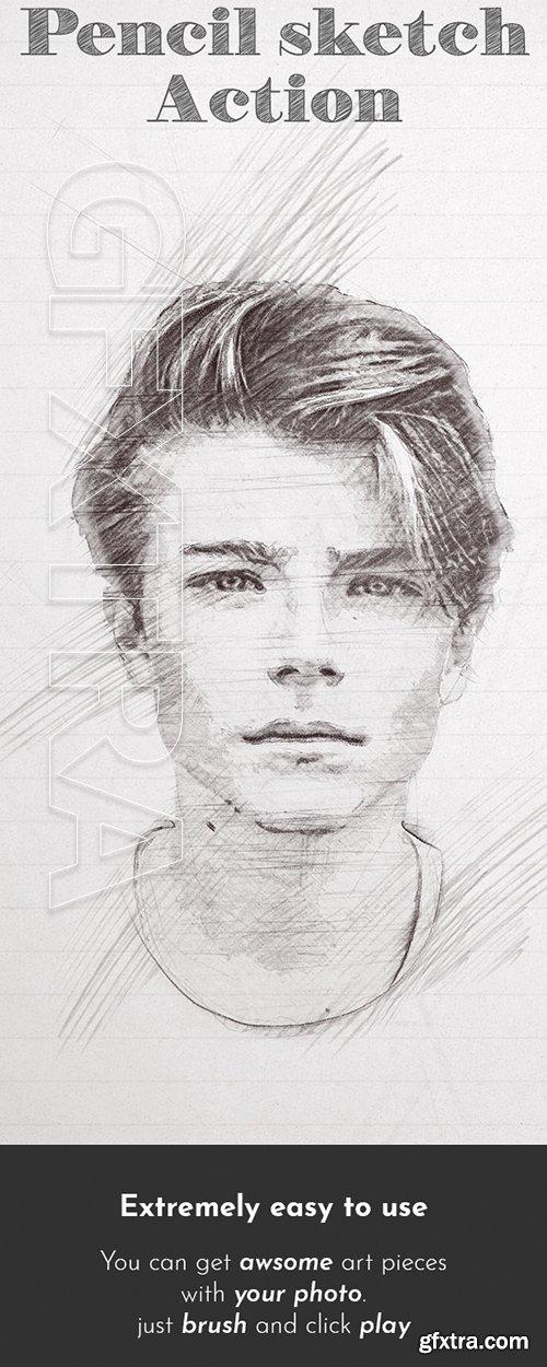 Graphicriver pencil sketch photoshop action 22055959