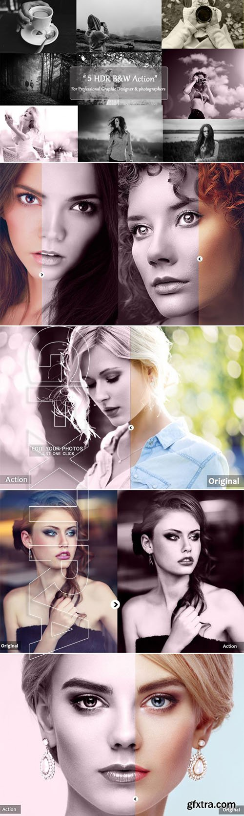 Graphicriver - 05 HDR B&W Action