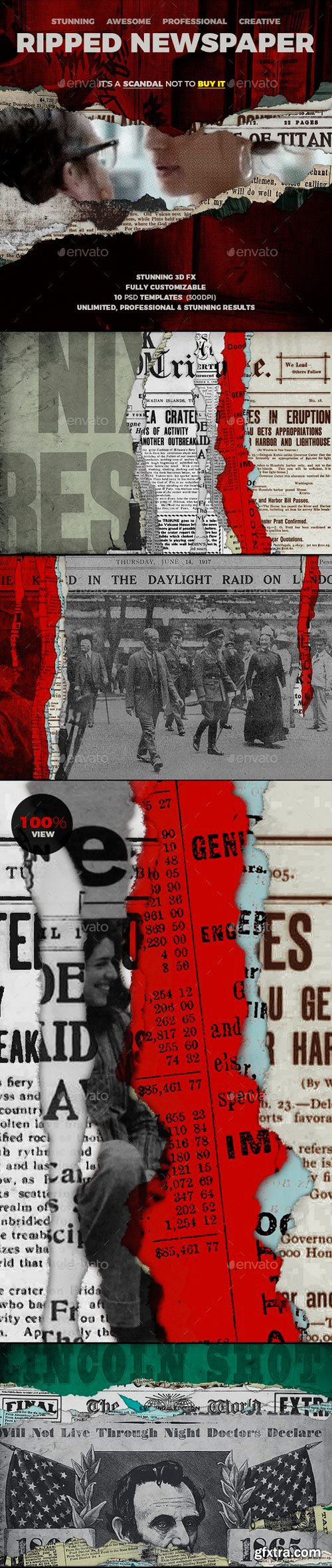 Graphicriver - 21210529 Ripped Newspapers 10 Templates Unlimited Results