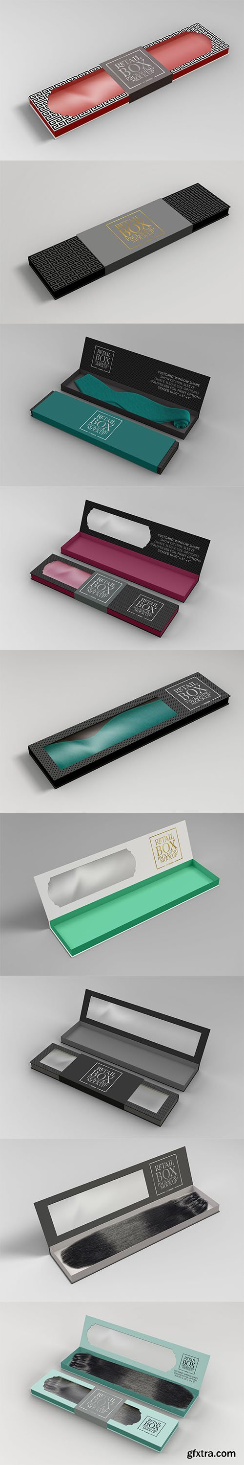 Rectangle Collapsible Box Packaging Mockup