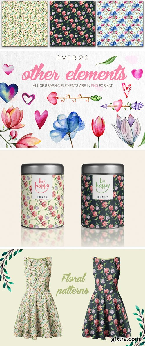 Designbundles - Romantic Flowers 80369