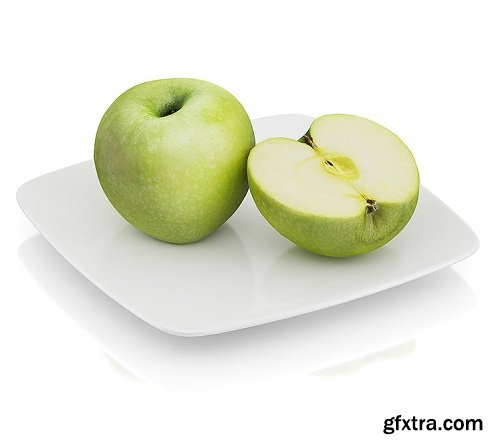 Halved apple 3d Model