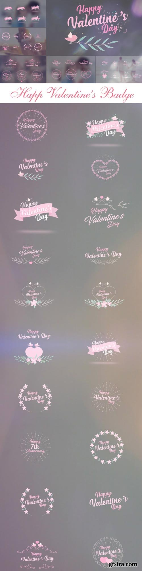 Videohive - Valentine\'s Day Badge Pack - 19334517