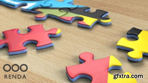 Videohive - Jigsaw Puzzle Logo Reveal - 18193239