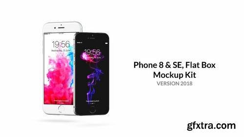 Videohive Phone 8 & SE / Flat Box - Mockup Kit v2018.1 6638840