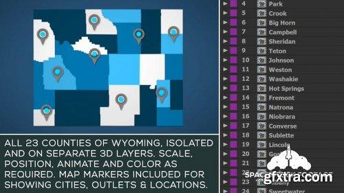 Videohive Wyoming Map Kit 20776291