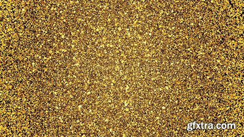 Golden Glitter Background Loop 87462