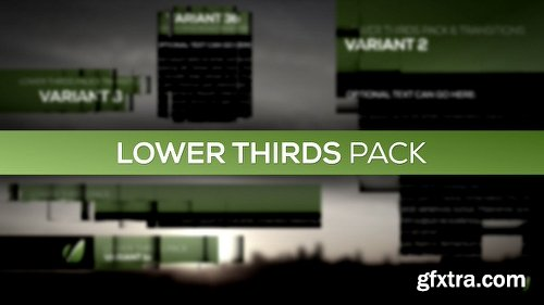 Videohive Lower Thirds Pack 4101681