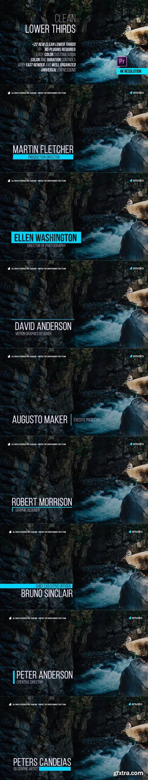 Videohive - Clean Lower Thirds for Premiere - 21731346