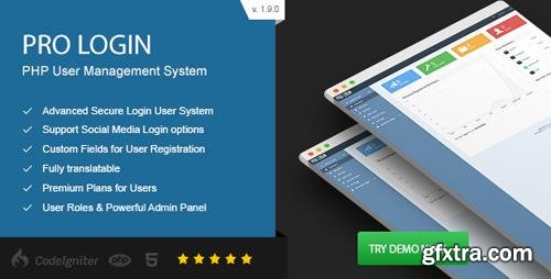 CodeCanyon - Pro Login v1.9 - Advanced Secure PHP User Management System - 12388905