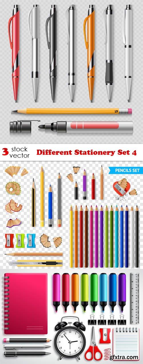 Vectors - Different Stationery Set 4
