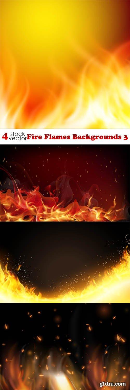 Vectors - Fire Flames Backgrounds 3