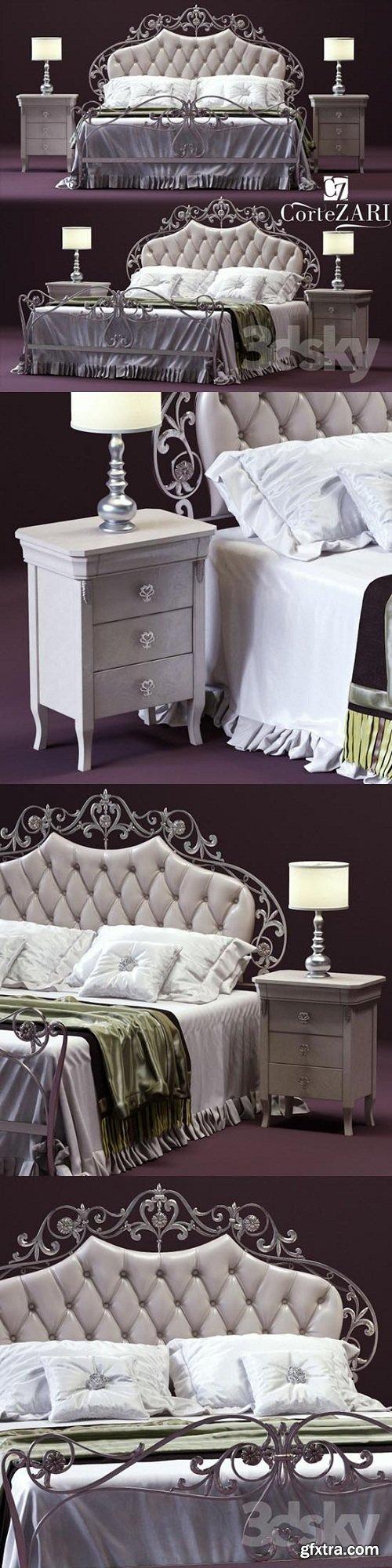 CorteZARI OLIMPIA Double Bed 3d Model