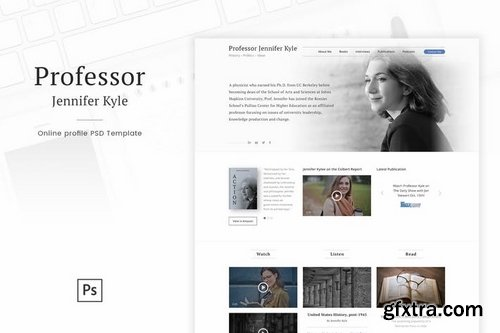 Professor - Online Profile Personal Blog PSD