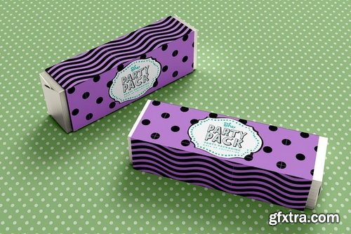 Candy Bar Sleeve Party Packaging Mockup