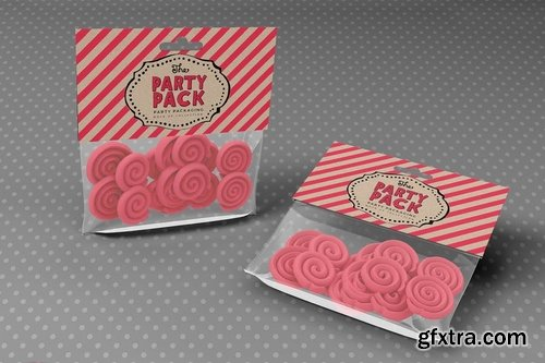 Candy Bag Party Packaging Mockup