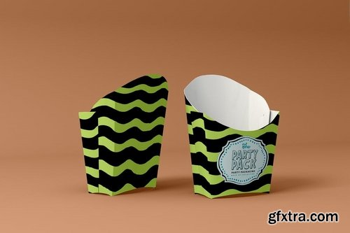 Fries Box Party Packaging Mockup
