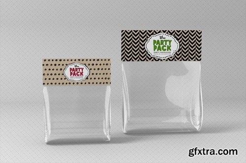 Loot Bag Toppers Party Packaging Mockup