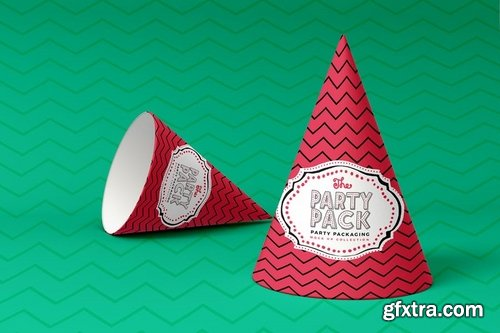 Party Hats Party Packaging Mockup