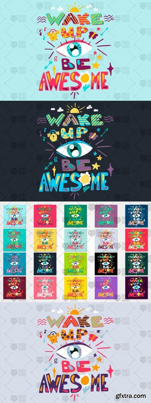 Inspiration Quote - Wake Up And Be Awesome