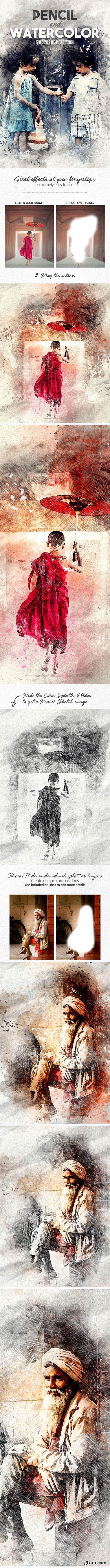 Graphicriver - Pencil n Watercolor Photoshop Action 19586973