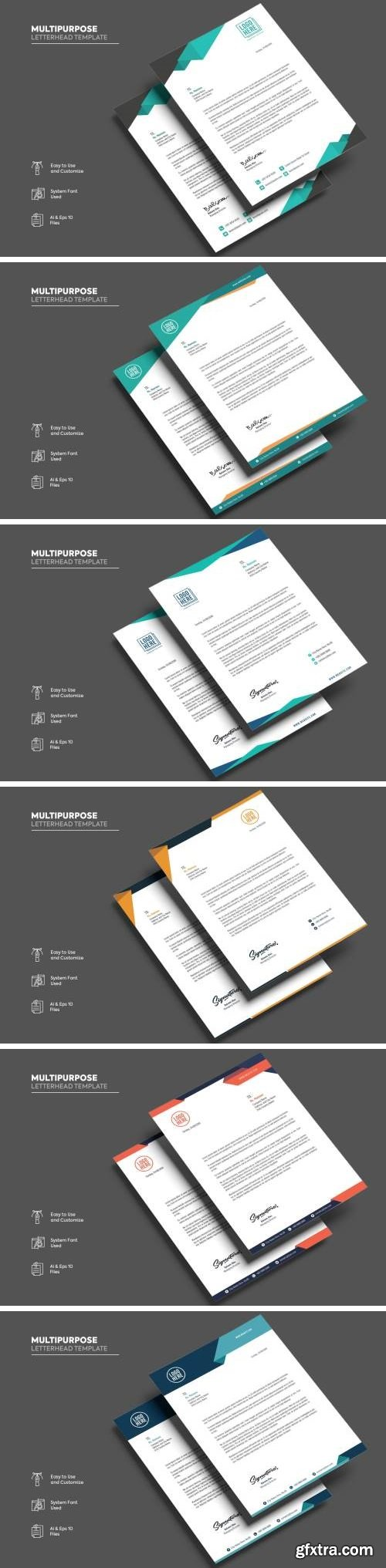 Multipurpose Letterhead Template Bundle