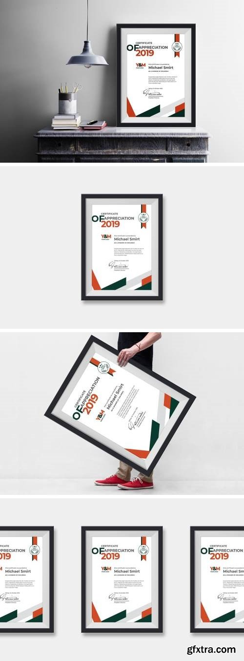 Portrait Abstract Certificates