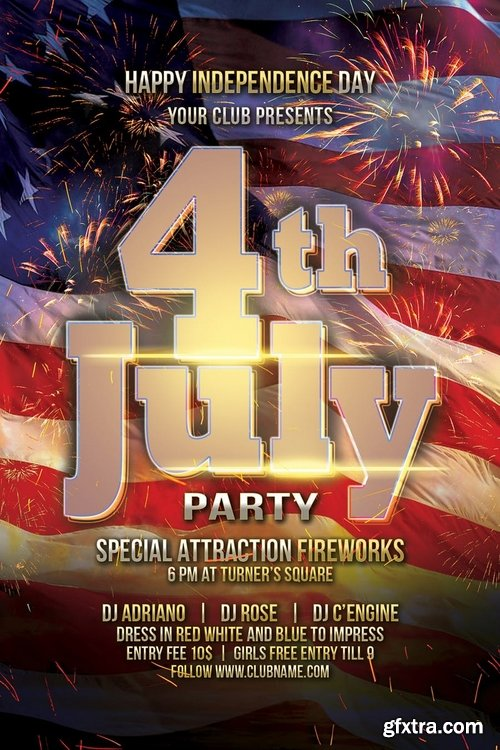 July 4 Independence Day Flyer
