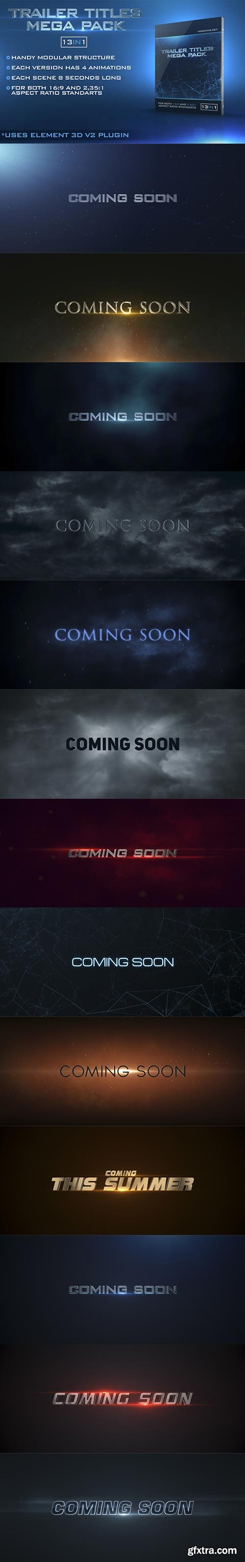 Videohive - Trailer Titles Pack - 15419714