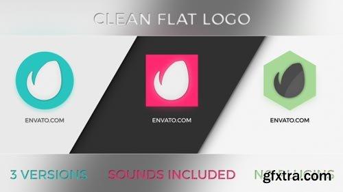 Videohive - Clean Flat Logo 3 in 1 - 19372545