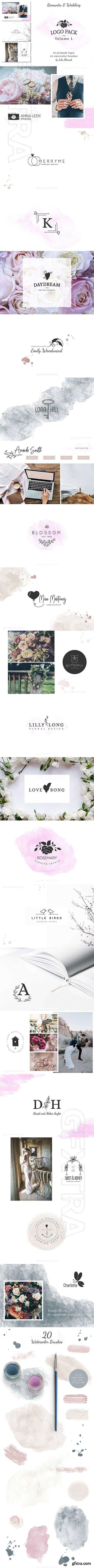 CreativeMarket - Logo Pack Vol1 Romantic & Wedding 2691229