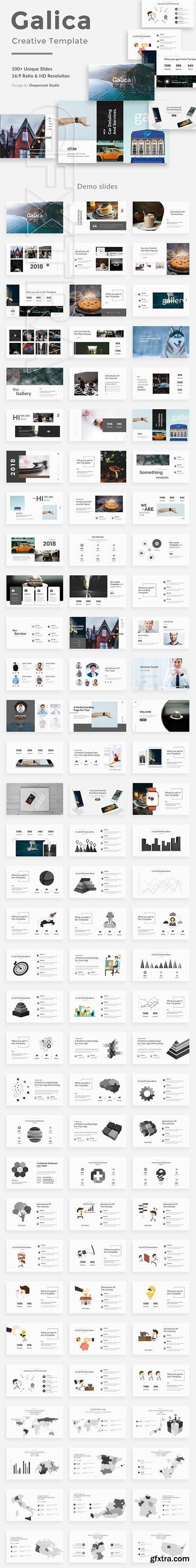 CreativeMarket - Galica Creative Powerpoint Template 2681752